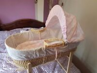 crib moses basket with stand