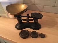 Boots the Chemist Vintage Brass Weighing Scales