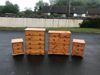 Chest of drawers £20,-£70