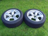 2x BMW 5 Series Alloys E60/E61 Original Wheels with Winter Tyres