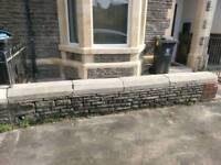 Coping stones and wall