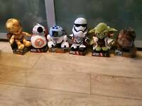 6 starwars plush toys new in box with tags