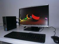 DELL OPTIPLEX 780 ULTRA SMALL PC+ HP 22 INCH MONITOR SET UP