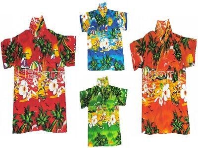 Hawaiian Shirt Beach Party Boys Girls Kids 7-8 / 9-11 Years - Boys Hawaiian Shirt
