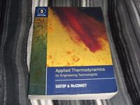 Applied Thermodynamics for Engineering Technologists - 5th Edition