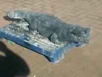 Garden ornament. Crocodile