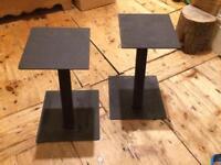 2x Metal Speaker Stands