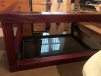 Square massive wood coffee table