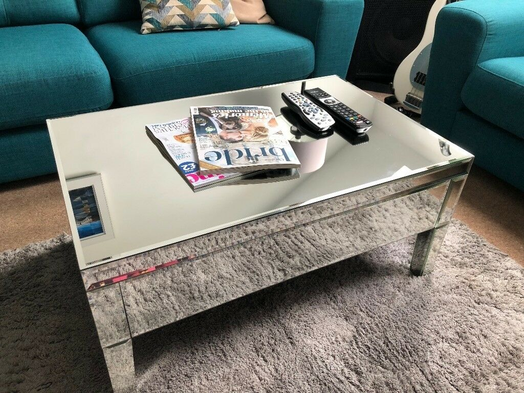 Chic Mirrored Coffee Table With Storage Mirror Table In Sale Manchester Gumtree
