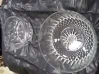 18 Glass salad bowls 8 small 10 lge all in very good condition
