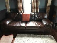Soft Italian leather suite 3 seater x2 plus cuddle chair