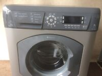 Hot point ultima 8 kg silver gray washing machine(delivery available)