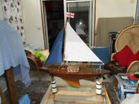 Antique toy Sail boat
