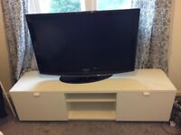 IKEA TV Bench and Samsung TV 42 inch with bracket