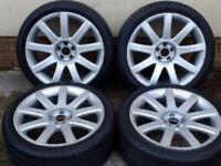 """18"""" OEM AUDI TT MK1 RS4 ALLOYS 5x100 WHEELS SEAT LEON IBIZA TOLEDO SKODA FABIA VW GOLF MK3/4 BORA"""