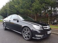 STUNNING 2013 MERCEDES C-CLASS AMG SPORT PLUS COUPE C220 CDI AUTOMATIC JUST SERVICED 1YEARS MOT