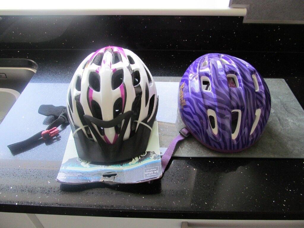 Two Girl Bike Helmets