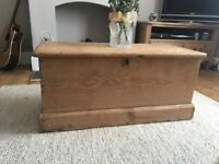Wooden Chest with Storage