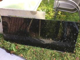 Solid black sparkle galaxy worktop