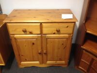 Solid Pine Cupboard with Drawers- CHARITY