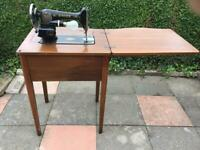 S5 of Sheffield. Singer sewing machine and work table. Old but still working and in vgc.