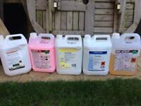 Hard floor cleaning chemicals