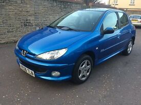 2006 PEUGEOT 206 1.4 VERVE 5dr, ONE OWNER, LOW MILES, FULL HISTORY, NEW MOT.