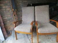 Two comfortable, almost new armchairs