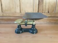 Vintage Kitchen Scales plus full set of weights