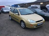 Ford Focus Zetec 3 door hatchback inlovely condition unusual colour drives superb any trial px welco