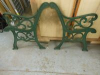 a pair of gorgeous heavy cast iron garden bench ends, in excellent condition