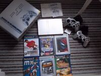 PS2 Bundle (Silver) Excellent Condition