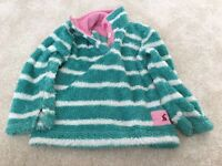 Joules fluffy Hoodie Aged 4 years