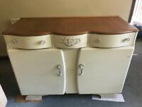 Pretty shabby chic cabinet sideboard solid wood