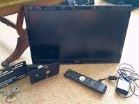 Campervan caravan Cello 22-inch Widescreen TV - Full HD 1080p LED DVD Combi Slim Digital TV