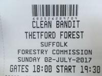 x2 Clean Bandit for Thetford Forest 2nd July 2017