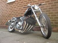 suzuki gs 450 chopper running project spares or repairs with a bandit 650 engine