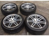 Audi Q7 4L 21inch twin spoke alloy wheels