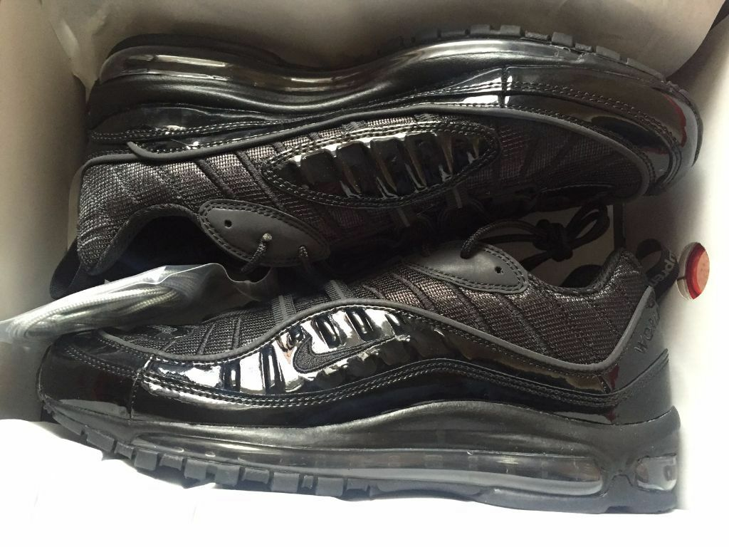 aadcs Nike Air Max 98 X Supreme UK9 Black | in Catford, London | Gumtree