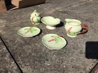 Carlton Ware Australian Design milk jug, sugar bowl & plates