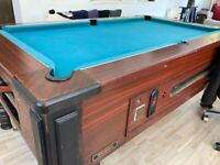 Slate Bed Pool Table Coin Operated with all accessories and two keys