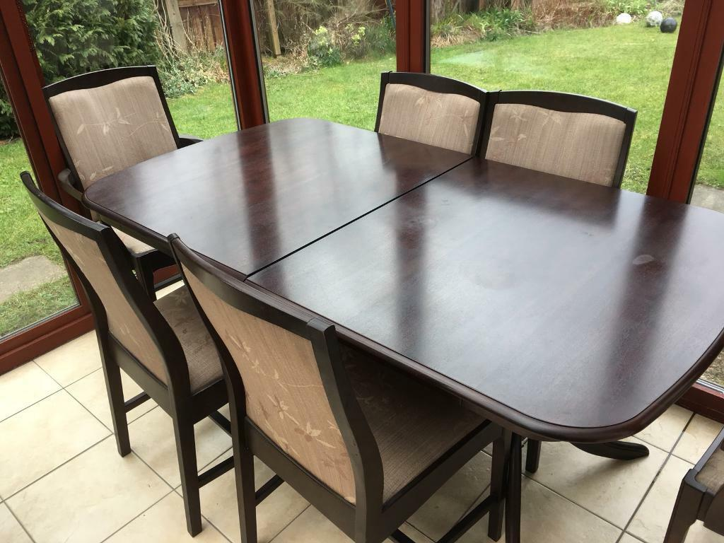 Oak Table Green Leather Suite For Sale