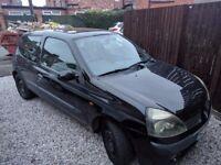 Renault Clio, two-door, 16V, 1.1 litre, 11 months MOT + full-service history, black