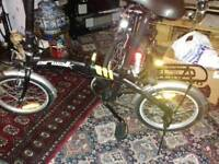 Two fold away bikes virtually brand new Ben rhydding twice