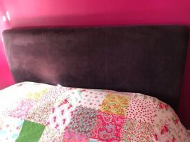Double bed: purple velour with drawer