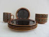Retro Hornsea Crockery in Bronte and Heirloom Designs