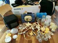 Medela Double breast pump w/extras