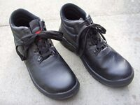 TUF Brand Mens Black Steel Toe Cap Water Resistant Safety Work Boots Size UK 8 / EUR 42 - Worn Once