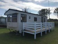 STATIC CARAVAN SITED ON SANDY BEACHES HOLIDAY VILLAGE