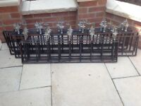 40ft of wrought iron railings need wire brushing and a lick of paint good condition bargain £100